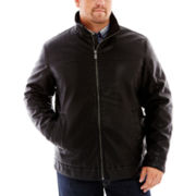 Dockers® Faux-Leather Bomber Jacket–Big & Tall