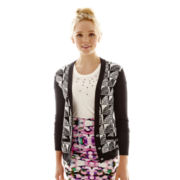 L'Amour Nanette Lepore Diamond Pattern Cardigan