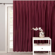 Supreme Palace Antique Satin Pinch-Pleat Thermal Patio Panel