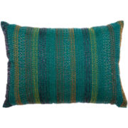 Beaded Stripe Oblong Decorative Pillow