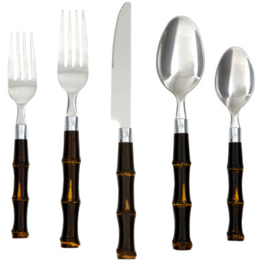 jcpenney.com | Cambridge® Silversmiths Bamboo 20-pc. Flatware Set