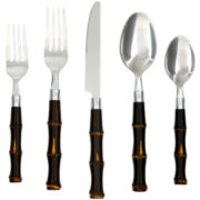 Cambridge® Silversmiths Bamboo 20-pc. Flatware Set