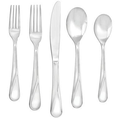 jcpenney.com | Farberware® Capers Mirror 20-pc. 18/10 Stainless Steel Flatware Set