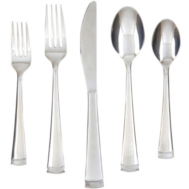 jcpenney.com | Farberware® Poppy Mirror/Pebble 20-pc. Flatware Set