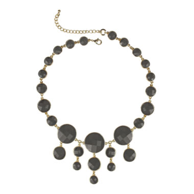 jcpenney.com | love struck™ Gold-Tone Gray Bib Necklace
