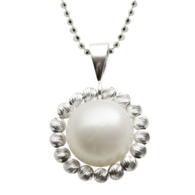 jcpenney.com | Cultured Freshwater Pearl Sterling Silver Drop Pendant Necklace