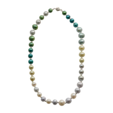jcpenney.com | Cultured Freshwater Green & Blue Pearl Sterling Silver Ombré Necklace