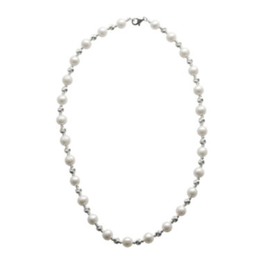 jcpenney.com | Cultured Freshwater Pearl & Brilliance Bead Sterling Silver Necklace