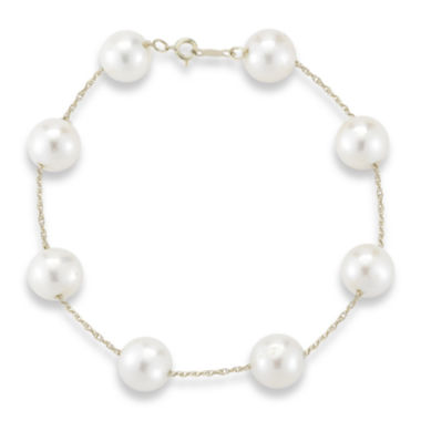 jcpenney.com | Cultured Freshwater Pearl 10K Yellow Gold Bracelet
