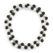 Cultured Freshwater Pearl & Onyx 34