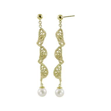 jcpenney.com | Cultured Freshwater Pearl 14K Gold Over Sterling Silver Brilliance Bead Earrings