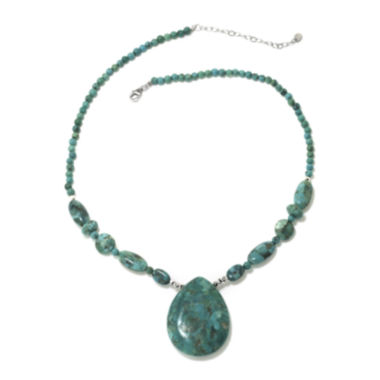 jcpenney.com | Enhanced Turquoise Teardrop Sterling Silver Necklace