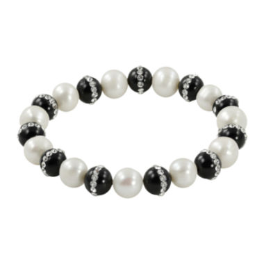 jcpenney.com | Cultured Freshwater Pearl & Heat-Treated Onyx Stretch Bracelet