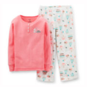Carter's® 2-pc. Long-Sleeve Microfleece Pajama Set – Girls 12m-24m