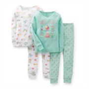 Carter's® 4-pc. Mix and Match Pajama Set – Girls 6m-24m