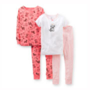 Carter's® 4-pc. Mix and Match Puppy Pajama Set – Girls 6m-24m