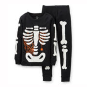 Carter's® 2-pc. Long-Sleeve Glow-in-the-Dark Halloween Pajama Set – Boys 12m-24m