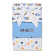 3-pk. Flannel Receiving Blankets – Boys