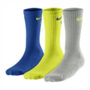 Nike® 3-pk. Graphic Crew Socks – Boys