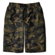 Zero Xposur® Ripstop Camo Swim Trunks – Boys S-XL