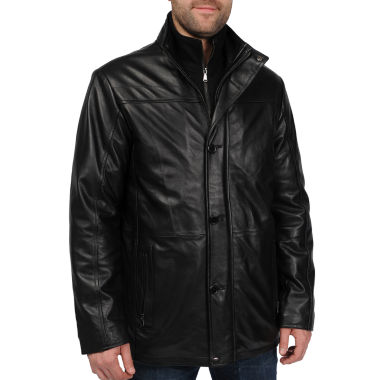 jcpenney.com | New Zealand Lambskin Leather Car Coat–Big & Tall