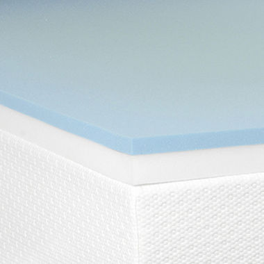 "jcpenney.com | Snuggle Home™ 3"" Gel Memory plus Support Foam Mattress Topper"