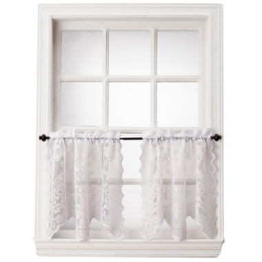 jcpenney.com | Home Expressions™ Jessica Lace Rod-Pocket Window Tiers