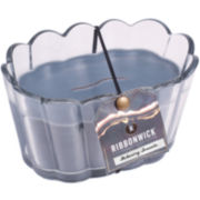 RibbonWick® Flickering Fireside Scalloped Glass Candle