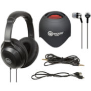 Wicked Audio Triad Portable Speaker, Ear Bud & Headphone Set
