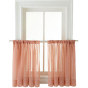 MarthaWindow™ Voile 2-Pack Rod-Pocket Window Tiers