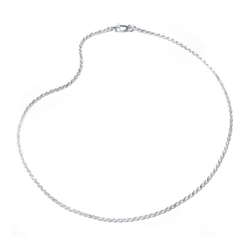 """Sterling Silver 16-24"""" Rope Chain"""