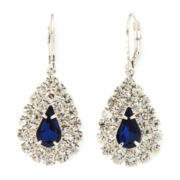 Vieste® Blue Stone Teardrop Earrings