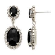 Vieste® Jet Stone Double Drop Earrings