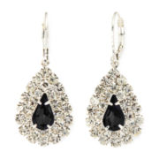 Vieste® Jet Stone Teardrop Earrings