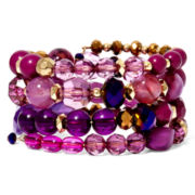 Mixit™ Purple Bead Coil Stretch Bracelet