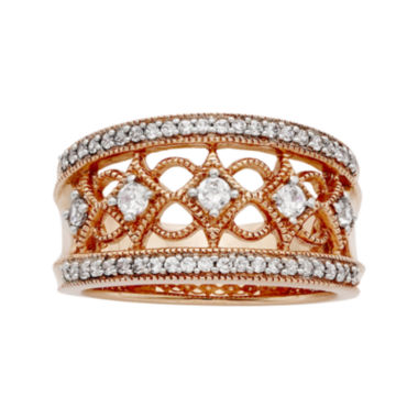 jcpenney.com | LIMITED QUANTITIES 1/2 CT. T.W. Diamond 10K Rose Gold Ring