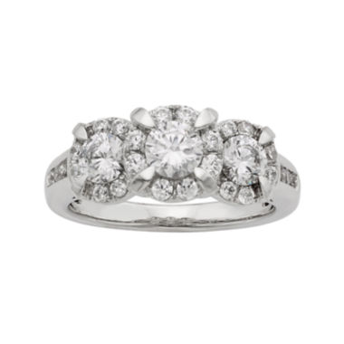 jcpenney.com | LIMITED QUANTITIES 1½ CT. T.W. Diamond 14K White Gold 3-Stone Ring