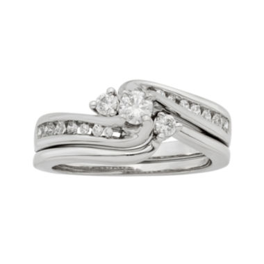 jcpenney.com | LIMITED QUANTITIES 1/2 CT. T.W. Diamond 14K White Gold Bridal Ring Set