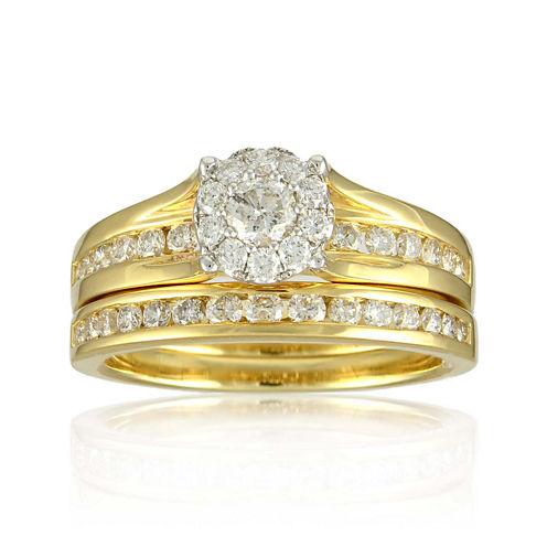 LIMITED QUANTITIES 1 CT. T.W. Diamond 14K Yellow Gold Bridal Ring Set
