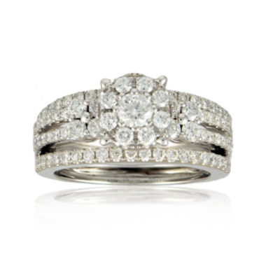 jcpenney.com | LIMITED QUANTITIES 1½ CT. T.W. Diamond 14K White Gold Bridal Ring Set