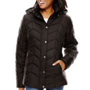 St. John's Bay® Hooded Puffer Jacket - Tall