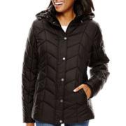 St. John's Bay® Hooded Puffer Jacket - Tall