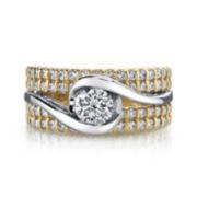 Sirena® 1⅜ CT. T.W. Diamond 14K Two-Tone Gold Bridal Ring