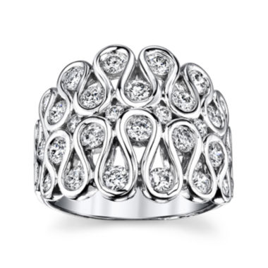 jcpenney.com | Sirena® 1¾ CT. T.W. Diamond 14K White Gold Swirl Dome Ring