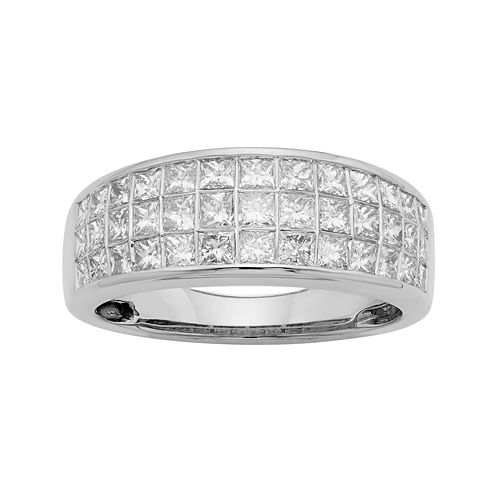 1½ CT. T.W. Diamond 14K White Gold Princess-Cut Wedding Band