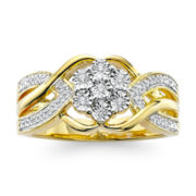 diamond blossom 1/10 CT. T.W. Diamond Cluster Ring