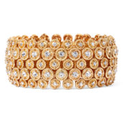 Natasha Gold-Tone Crystal Stretch Circle Bracelet