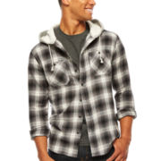 UNIONBAY® Vincent Hooded Flannel Shirt