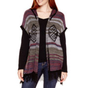 Arizona Sleeveless Poncho Cardigan