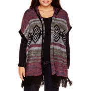 Arizona Sleeveless Poncho Cardigan - Plus
